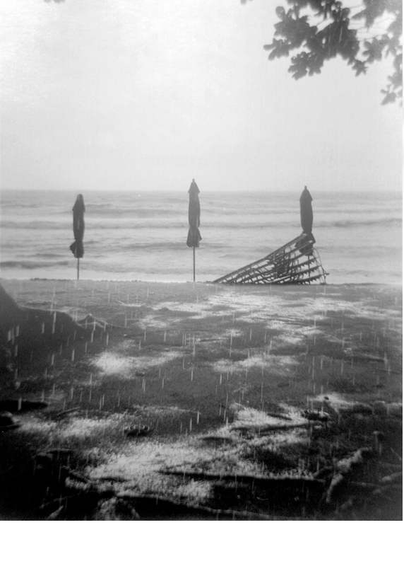 Beach Closed - Silver Gelatin Photography by Gwen Arkin
