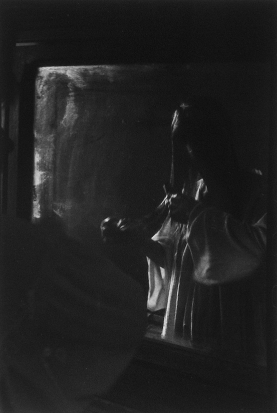 Cheryl At Her Mirror - Silver Gelatin Photography by Gwen Arkin